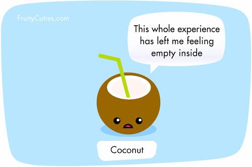 Coconut joke kawaii cartoon fruity cuties clearly - Fruity cuties jokes ...