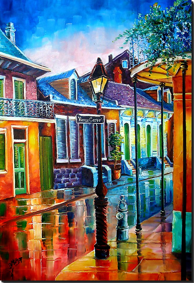 Life after dark in the vieux carre 39 new orleans art by New orleans paint colors