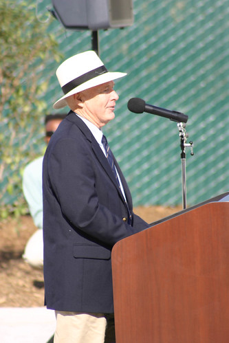 Bud Bottoms, artist, speaking at Dolphin Fountain Dedication | by California State University Channel Islands
