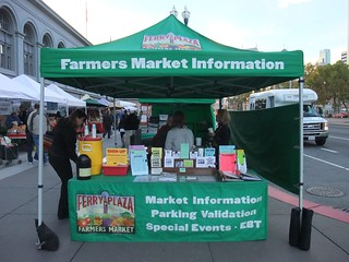SFO Day 2: Info Booth for the Ferry Plaza Farmers Market | by swampkitty