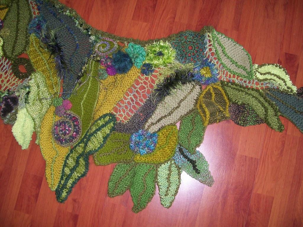 crochet freeform shawl knitcrochet freeform shawl using