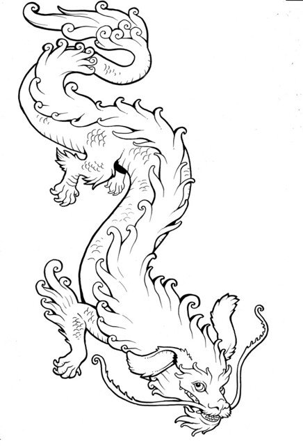 falcor the luck dragon coloring pages | Falcor | The lines for a tattoo I commissioned from Miss ...