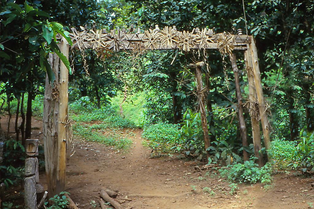 U lo akha village entrance the spirit gate thailand