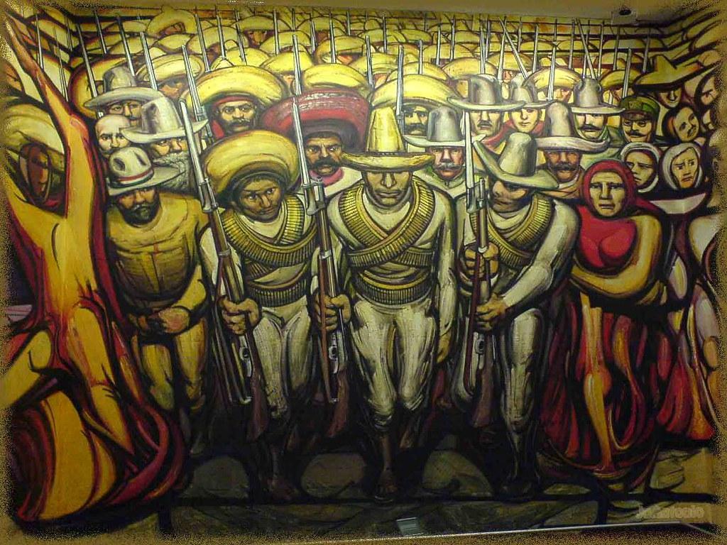 Mural de david alfaro siqueiros en el castillo de chapulte for El mural de siqueiros