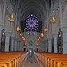 A view of the main entrance from inside Sacred Heart Cathedral in Newark, NJ.