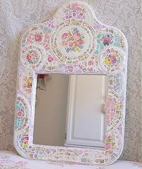 Shabby Cottage Mosaic Mirror | by lavenderhillstudio