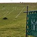 The Long Man, Windover Hill, Sussex Downs, Autumn Equinox, with Anderida Gorsedd banner