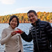 Cheers at Walden Pond with Apple Cups