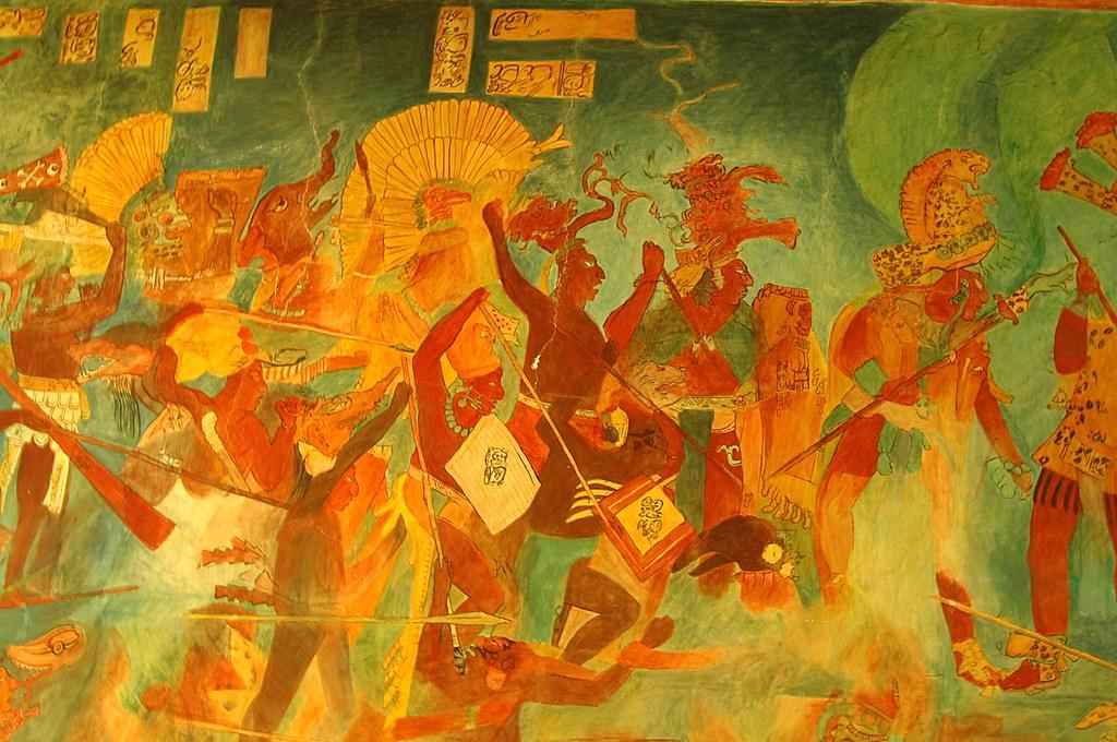 Museo de antropolog a pintura mural de bonampak 8 flickr for El mural de bonampak