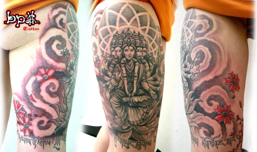 gayatri shiva tattoo par olive tattoo par olive bps tatt flickr. Black Bedroom Furniture Sets. Home Design Ideas