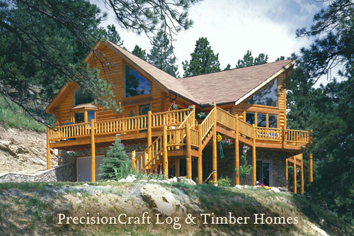Colorado log home custom design by precisioncraft log for Colorado log home plans