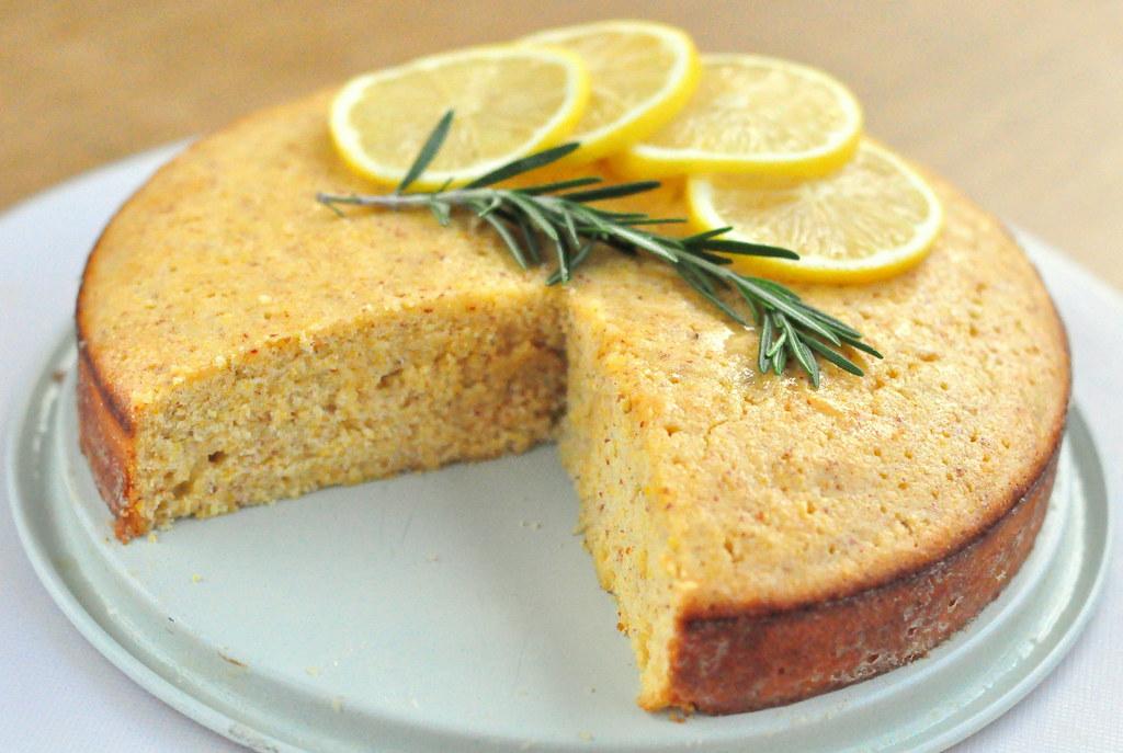 Lemon Polenta Cake, With Rosemary-Infused Lemon Syrup | Flickr