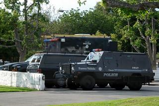 Glendale police department gpd swat vehicles staged for for Department of motor vehicles glendale ca