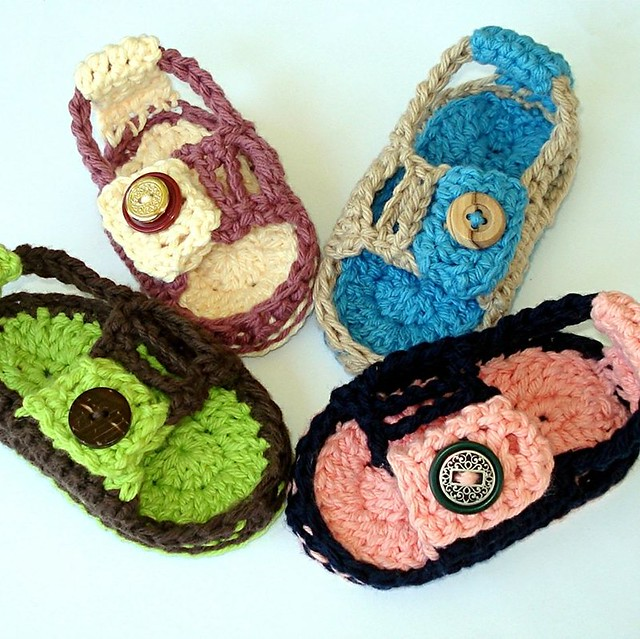 White Crochet Baby Shoes