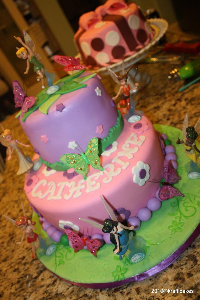Disney Fairies Cake A Disney Fairies Cake I Made For My