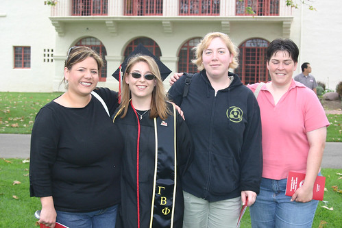 Graduate Jennifer Eaton with family at Commencement | by California State University Channel Islands