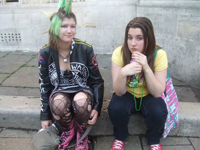 Punk Girl And Friend Thank You Very Much To The Two
