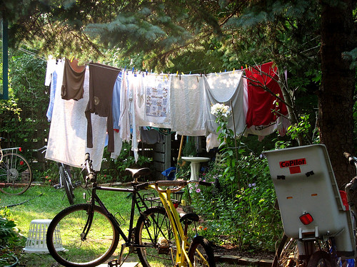 Clothesline & Bikes | by Professor Bop