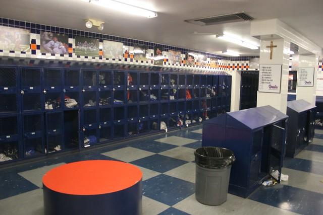 High School Locker Room Swim