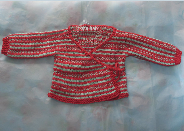 Child s Kimono Knitting Pattern : fairisle stripes baby kimono Flickr - Photo Sharing!