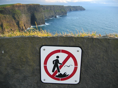 Don't step in fire while chasing birds at the Cliffs of Moher (Ireland) | by dornfeld
