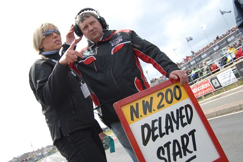 Incidents off course cause delays | by BBCNI Northwest 200