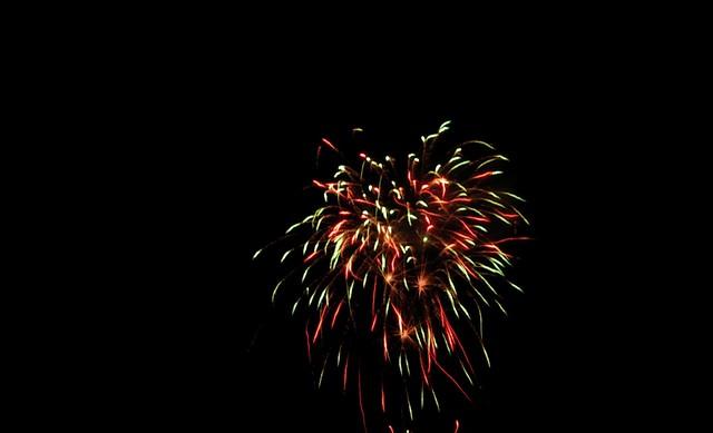 July 4th, 2007 Fireworks  Wildcat backyard fireworks, seen
