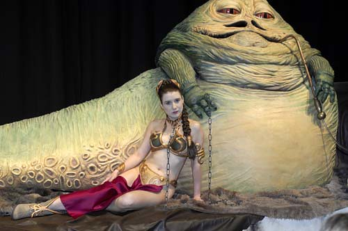 Jabba the Hut, from Star Wars.