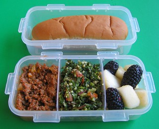 DIY Sloppy Joe lunch for preschooler | by Biggie*