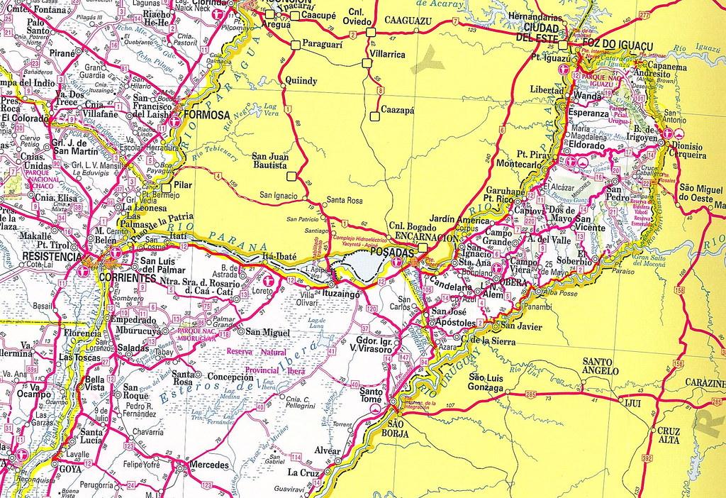 All Sizes Mapa Rutas Argentinas Corrientes Y Misiones - Argentina misiones map