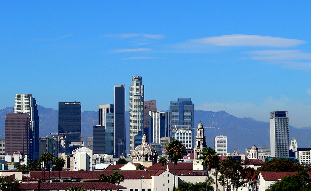 old icons in the los angeles downtown skyline