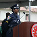 Officer Felice Thompson singing the National Anthem
