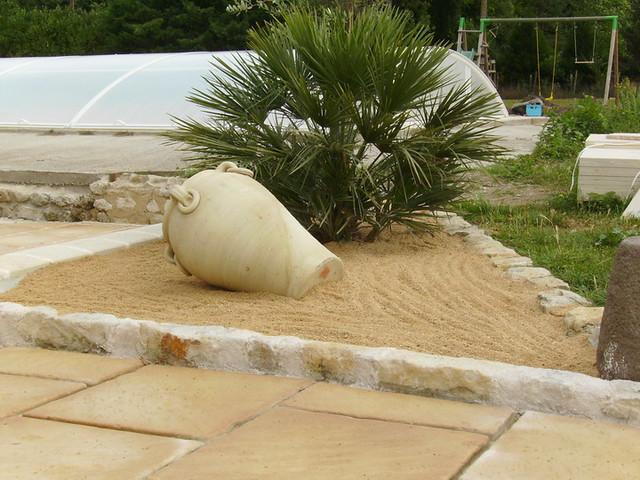 Parterre sable parterre sabl avec bordure pierre for Parterre 3d