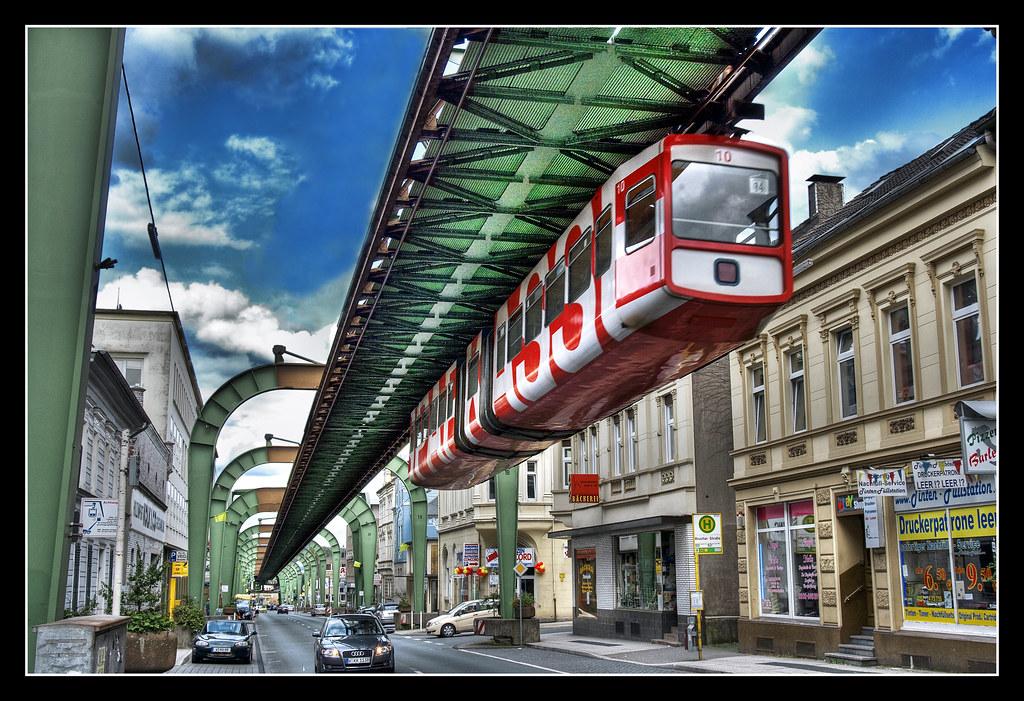schwebebahn wuppertal suspension railway in wuppertal ger flickr. Black Bedroom Furniture Sets. Home Design Ideas