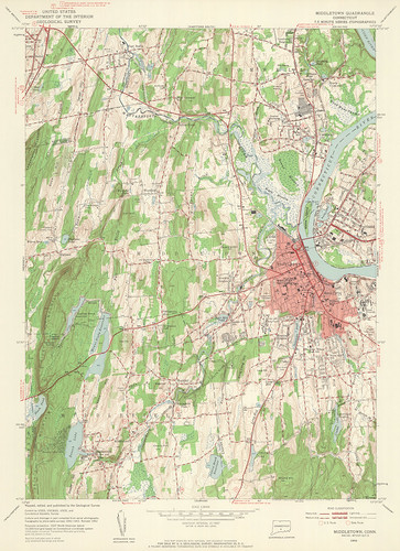 Middletown Quadrangle 1952 - USGS Topographic Map 1:24,000 | by uconnlibrariesmagic