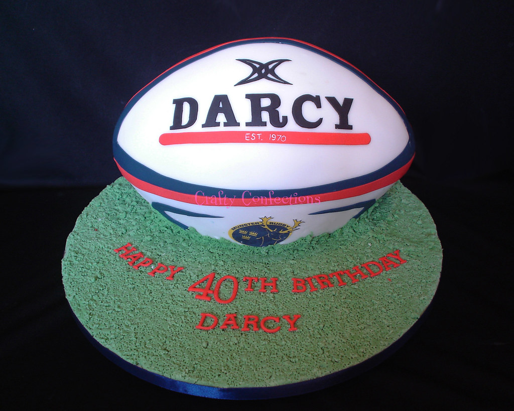 Rugby Ball Cake Rugby Ball Cake For A 40th Birthday I