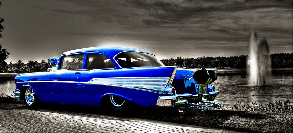 57 chevy single shot hdr orlando festival of speed car sh flickr. Black Bedroom Furniture Sets. Home Design Ideas