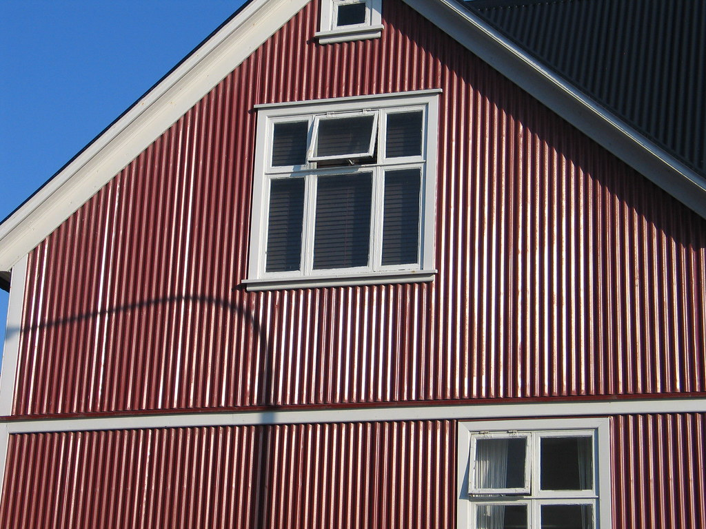 Iceland Lots Of Corrugated Metal Siding A Lot Of The