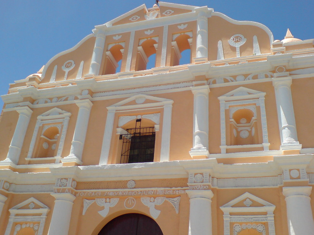 Fachada iglesia de Santa María de Jesús, Sacatepéquez, Gua ...