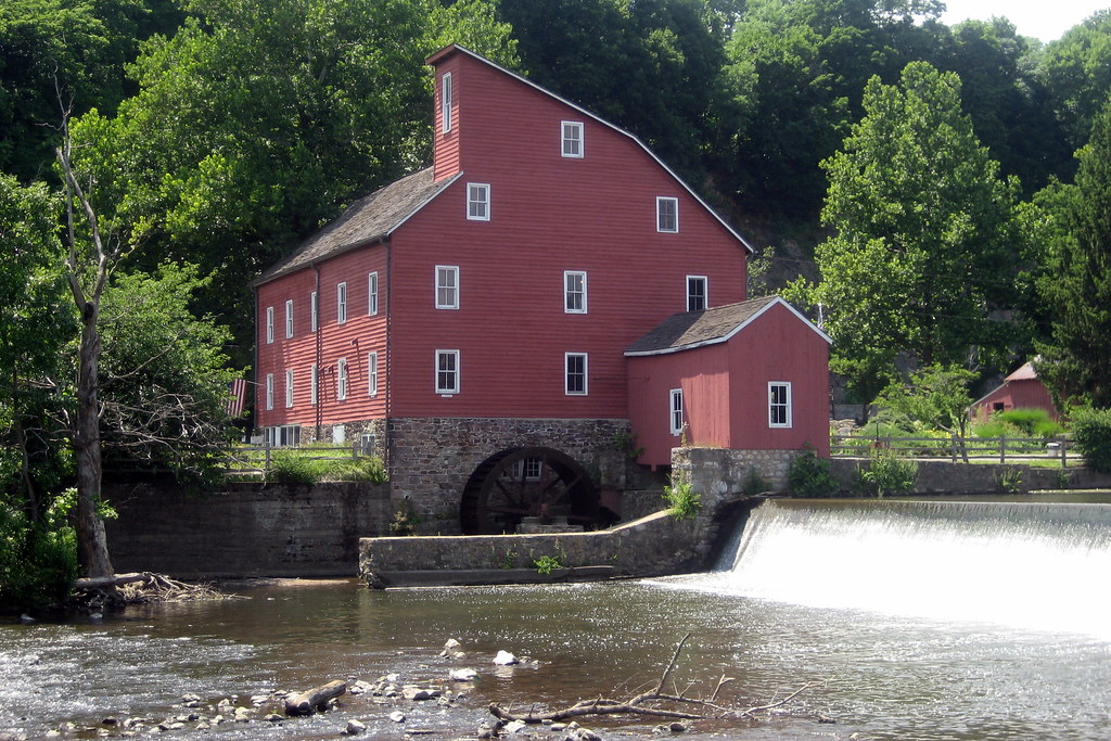 Nj Clinton Clinton Historic District The Red Mill