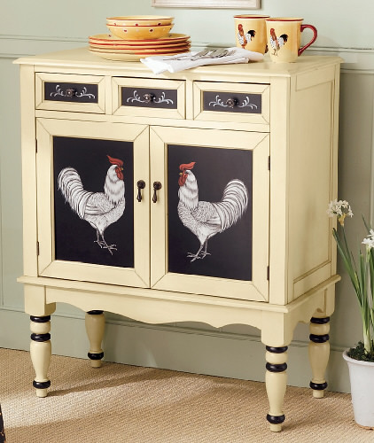 Country Kitchen Jobs: Hand-Painted-Rooster-Cabinet-1_41751_lg