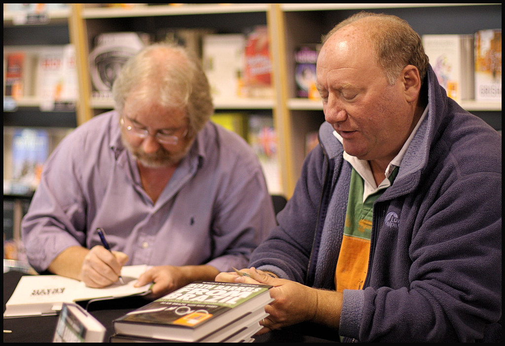 Mike Porky Parry Amp Alan Brazil Signing Copies Of Their