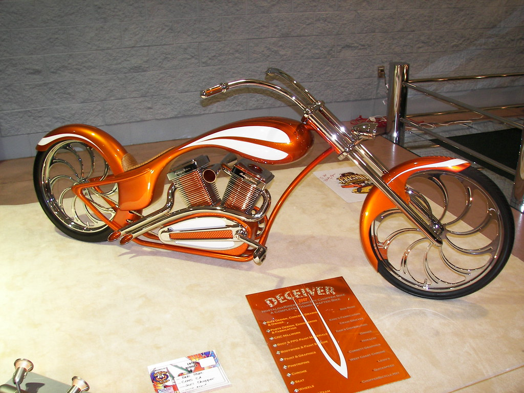 custom chopper with pedals