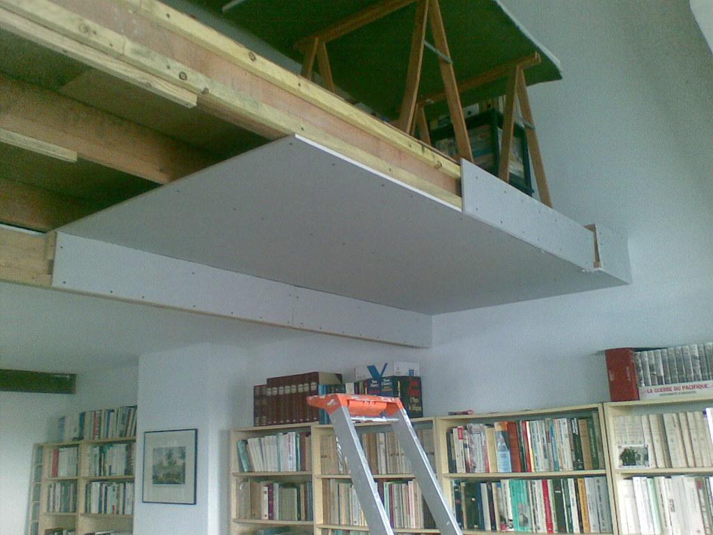 Faux plafond faux plafond sous mezzanine avec plaques de - Hauteur sous plafond mezzanine ...