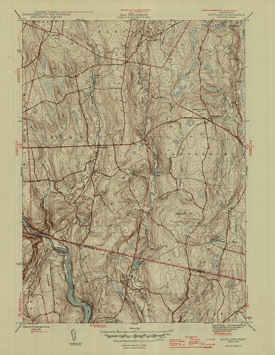 Scotland Quadrangle 1946 - USGS Topographic Map 1:31,680 | by uconnlibrariesmagic