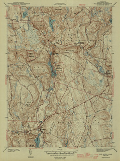 Old Mystic Quadrangle 1943 - USGS Topographic Map 1:31,680 | by uconnlibrariesmagic