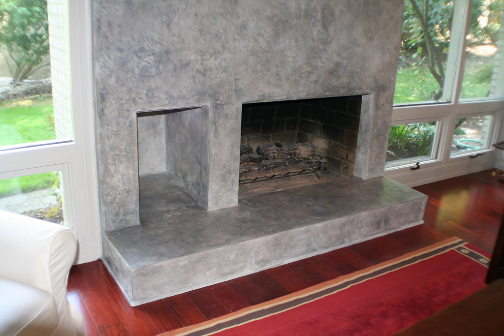 Venetian Plaster Fireplace Working With An Existing Brick Flickr