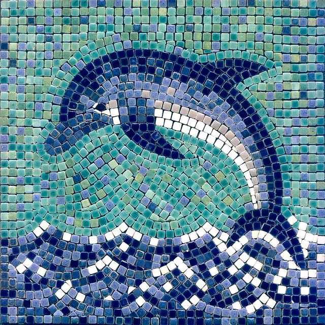 delfin mosaik dolphin mosaic by alea von. Black Bedroom Furniture Sets. Home Design Ideas