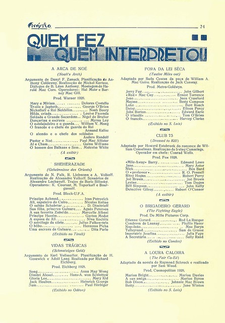 Cinéfilo, No. 73, January 11 1930 - 22