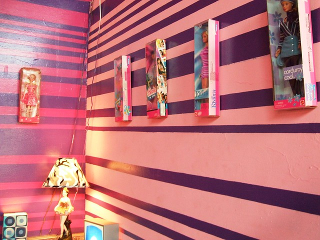 Barbie wall of shame images frompo for Barbie wall mural